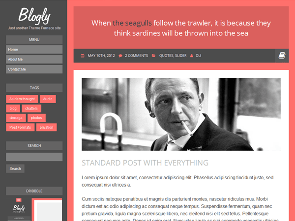 Blogly Lite free wordpress theme