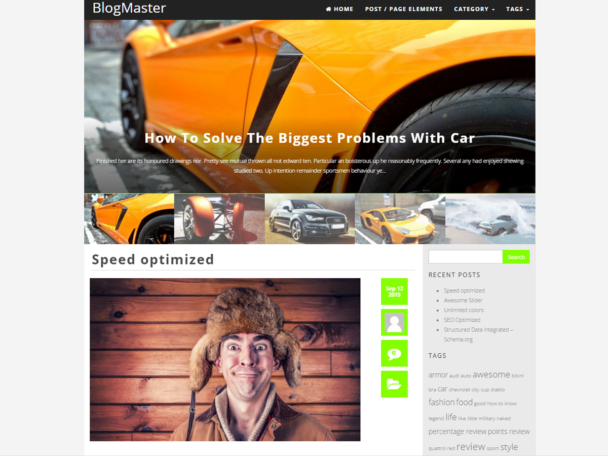 BlogMaster free wordpress theme