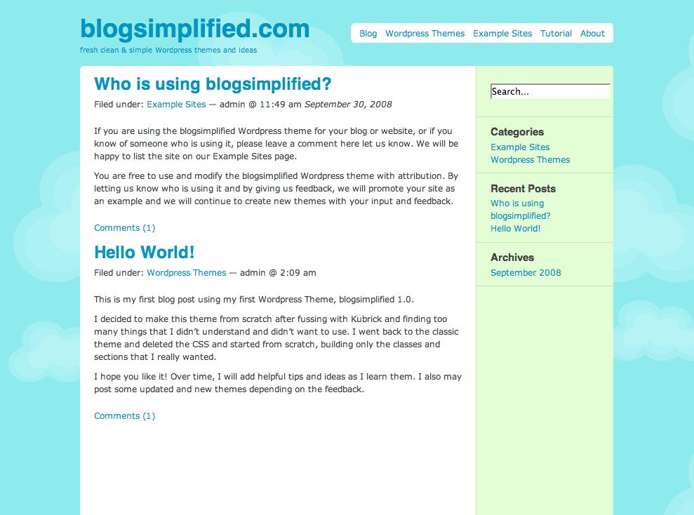 blogsimplified free wordpress theme
