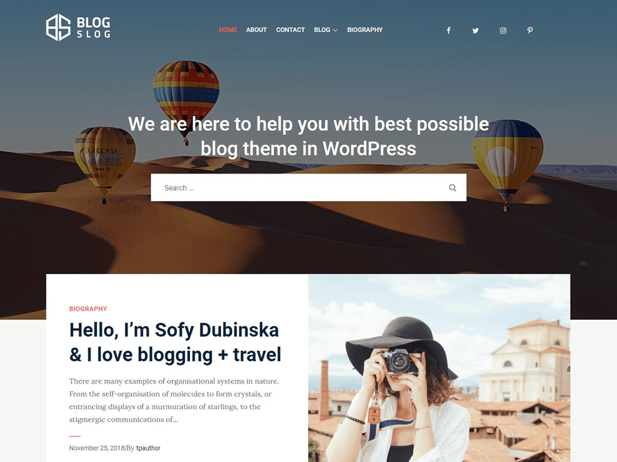 WordPress主题:BlogSlog