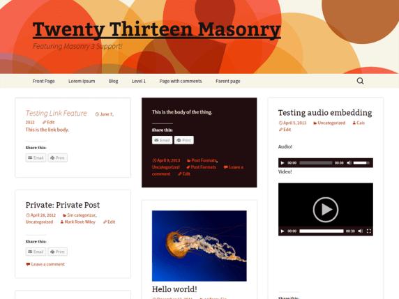 Blogsonry wordpress theme