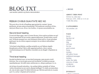 blog.txt free wordpress theme