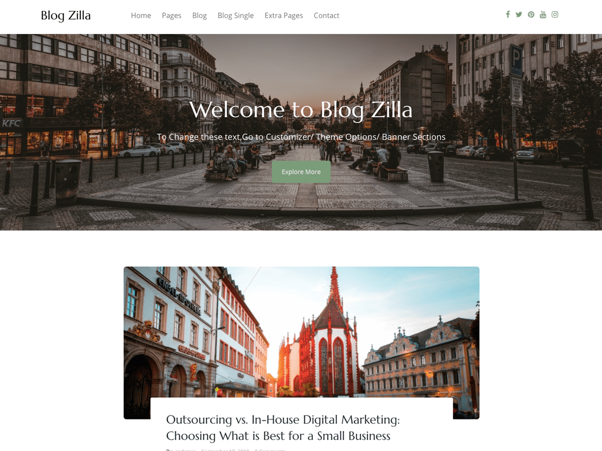 Blogzilla - WordPress theme | WordPress.org Español (Guatemala)