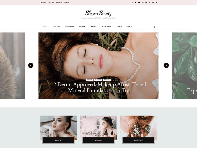 30+Elegantly Feminine Free WordPress Themes 4
