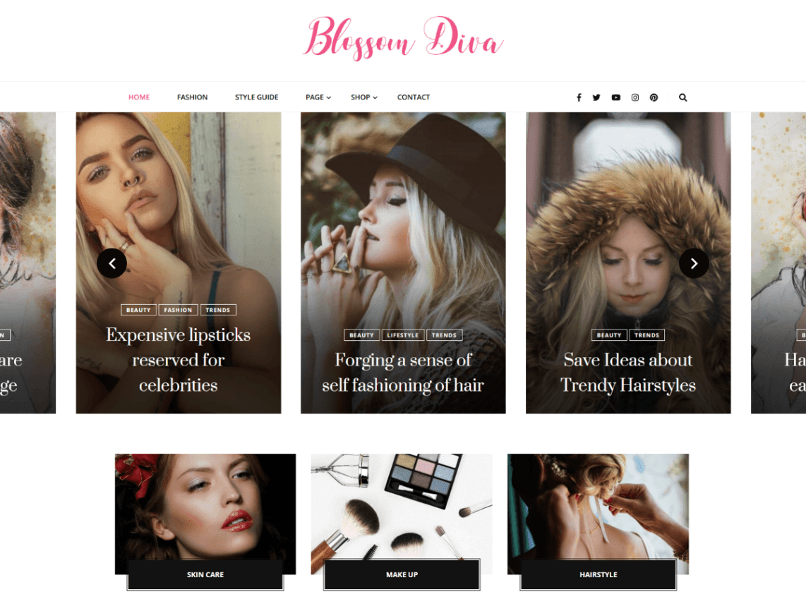 Blossom Diva WordPress Theme download