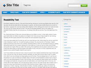 Blue and Grey free wordpress theme