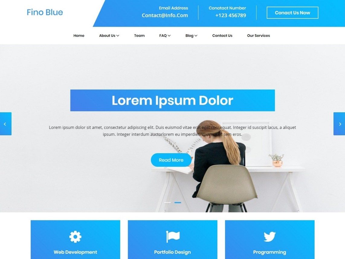 Blue Fino - WordPress theme | WordPress org