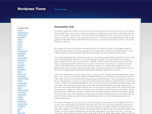 Blue Grey White wordpress theme