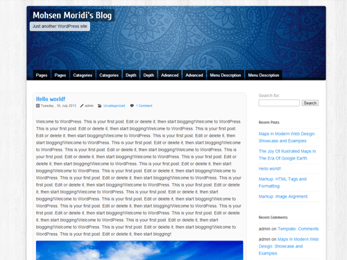 Blue Peace free wordpress theme