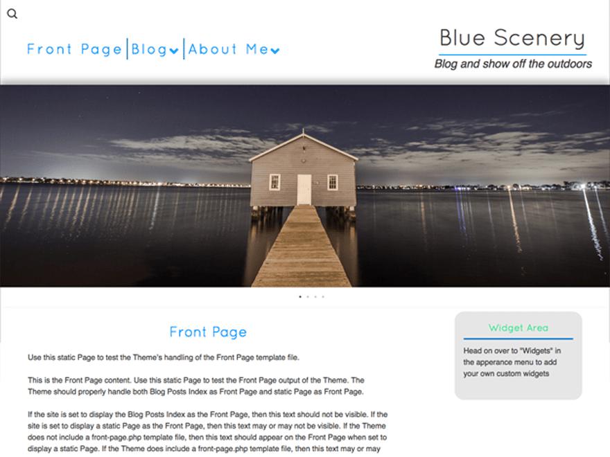 Blue Scenery free wordpress theme