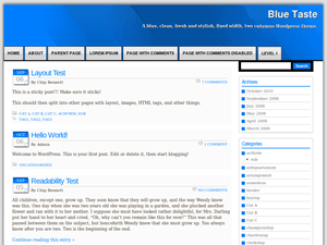 Blue Taste free wordpress theme