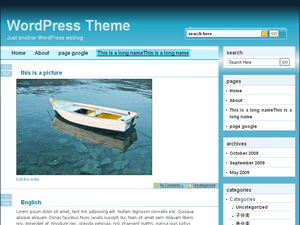 BlueFantasy free wordpress theme