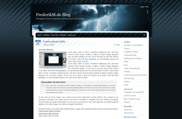BlueMoD free wordpress theme