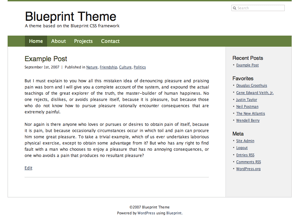 Blueprint theme free wordpress themes downloads per day malvernweather Images