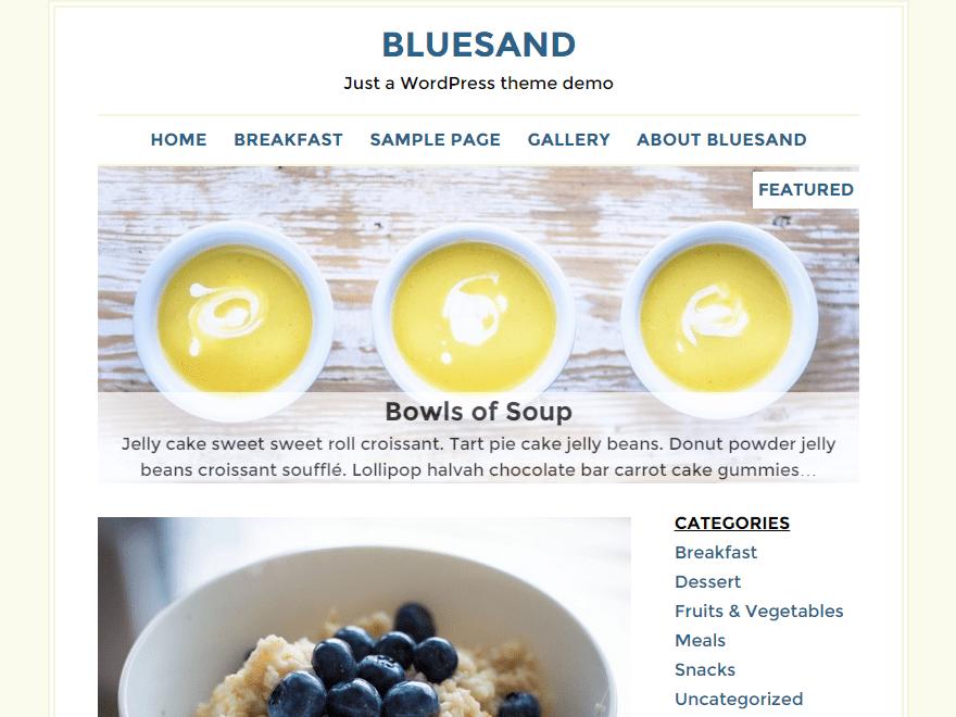 Bluesand free wordpress theme