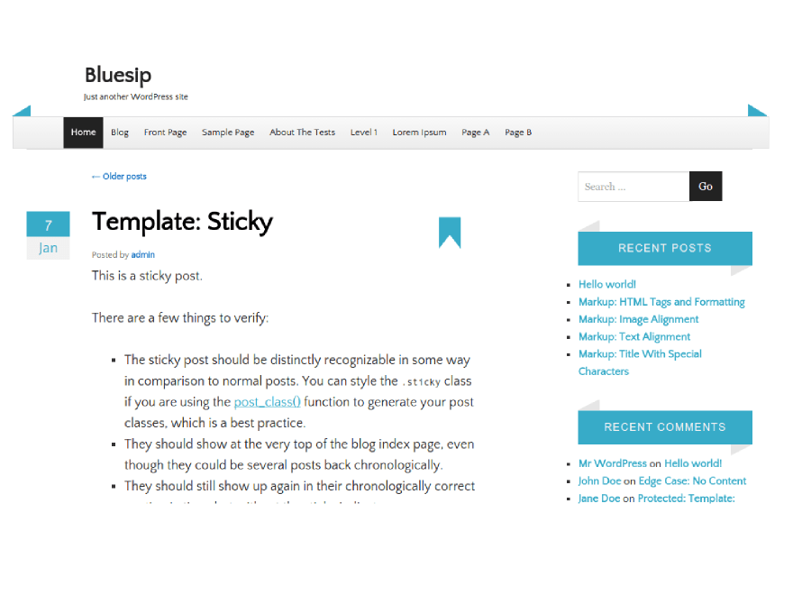 bluesip free wordpress theme