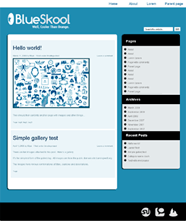 Blueskool free wordpress theme