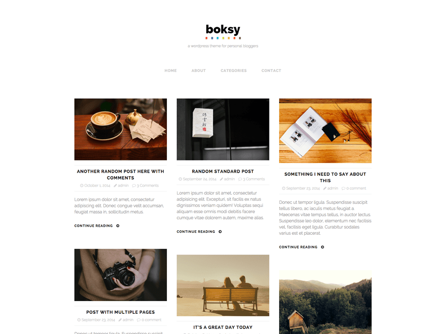 Boksy Lite free wordpress theme