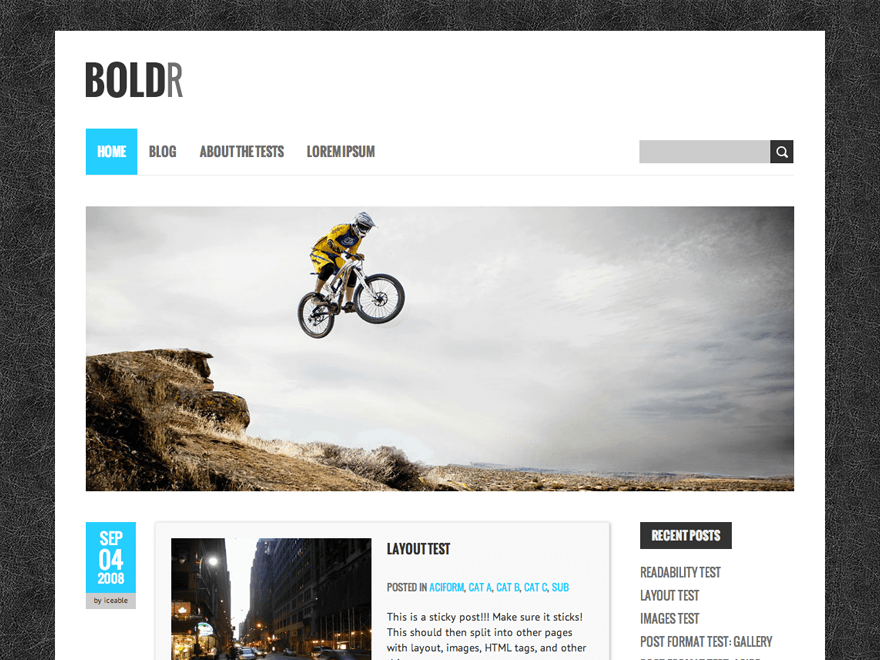 BoldR Lite free wordpress theme