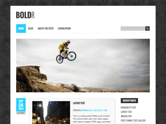 BoldR Lite wordpress theme