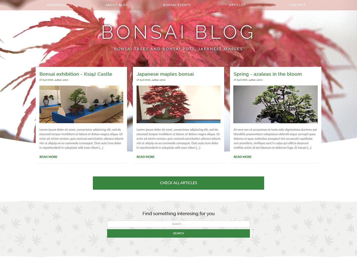 WordPress主题:Bonsai blog
