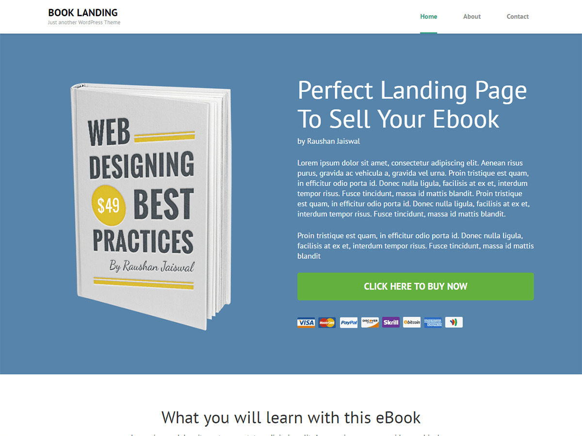 Book Landing Page