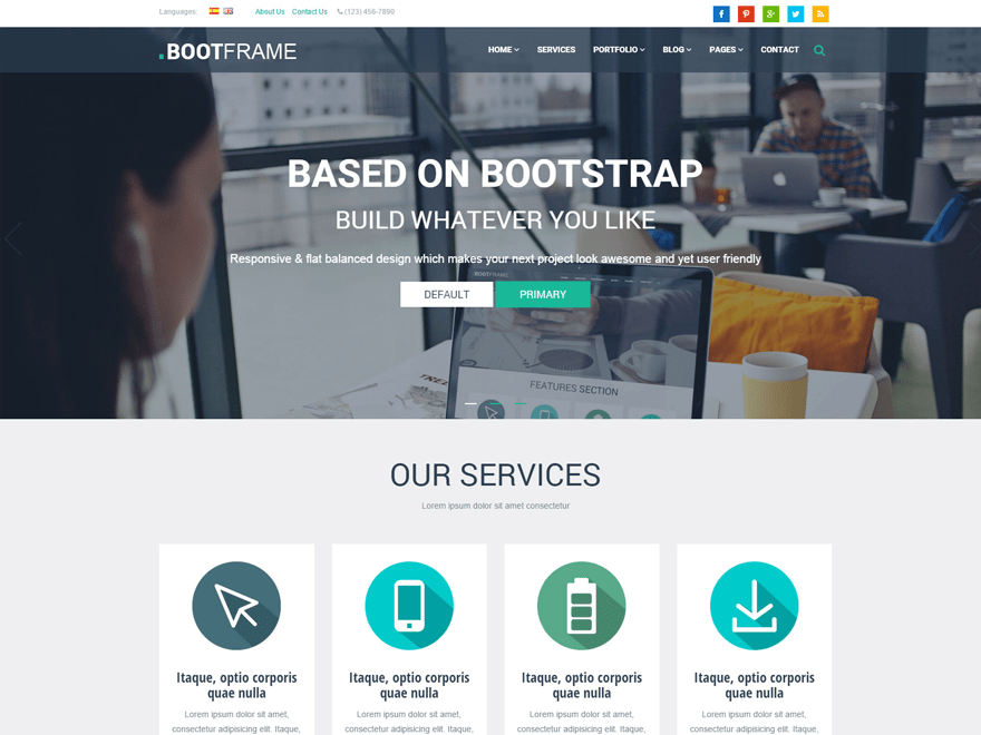 BootFrame Core free wordpress theme