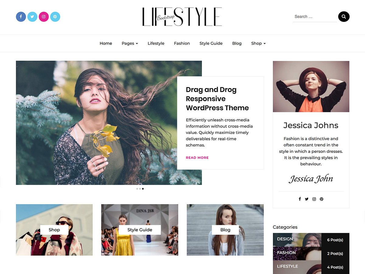 20+ Best Free Elegant WordPress Themes for Personal Blog & Writers 12