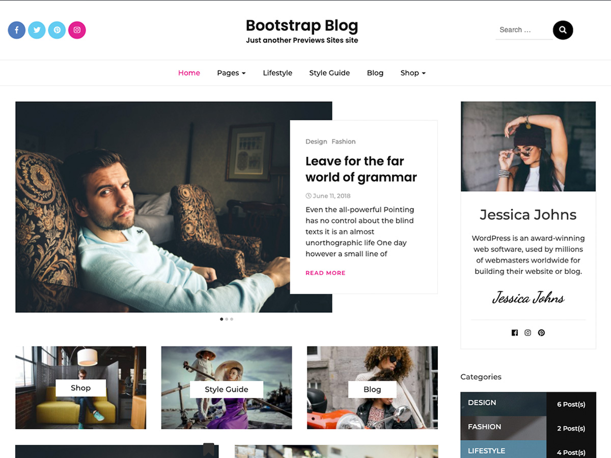 Bootstrap Blog