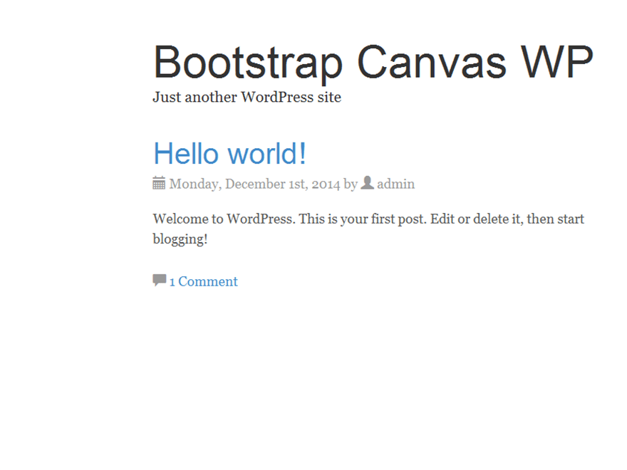 Bootstrap Canvas WP free wordpress theme