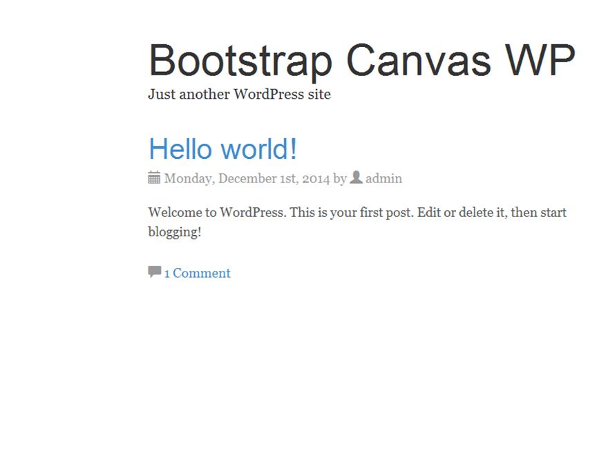 Bootstrap Canvas WP   WordPress.org