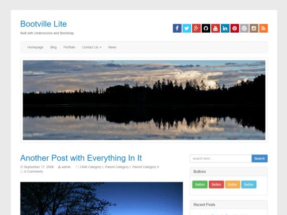 Bootville Lite wordpress theme