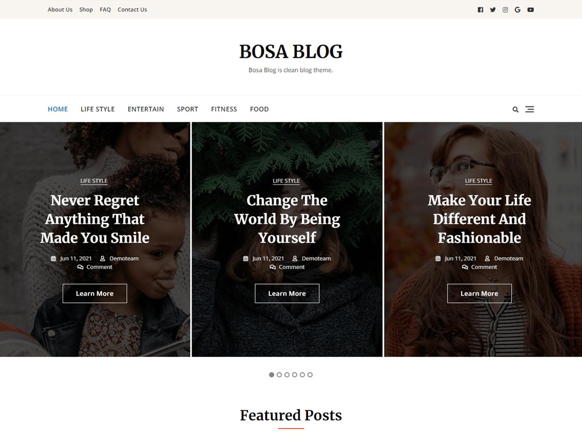 WordPress主题:Bosa Blog
