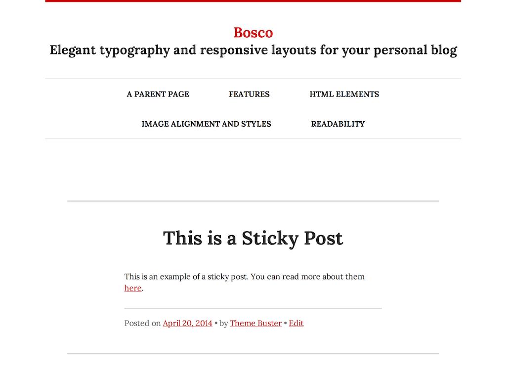 Bosco theme wordpress gratuit