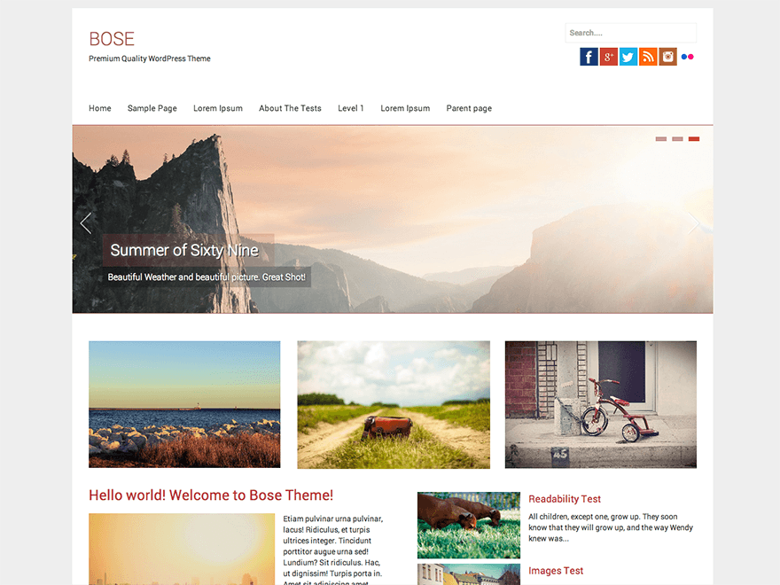 Bose free wordpress theme