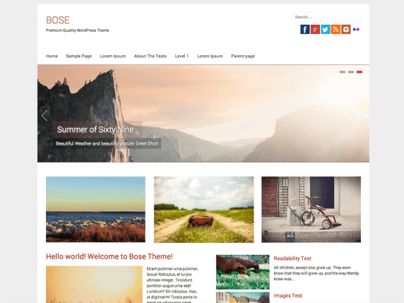 Bose wordpress theme