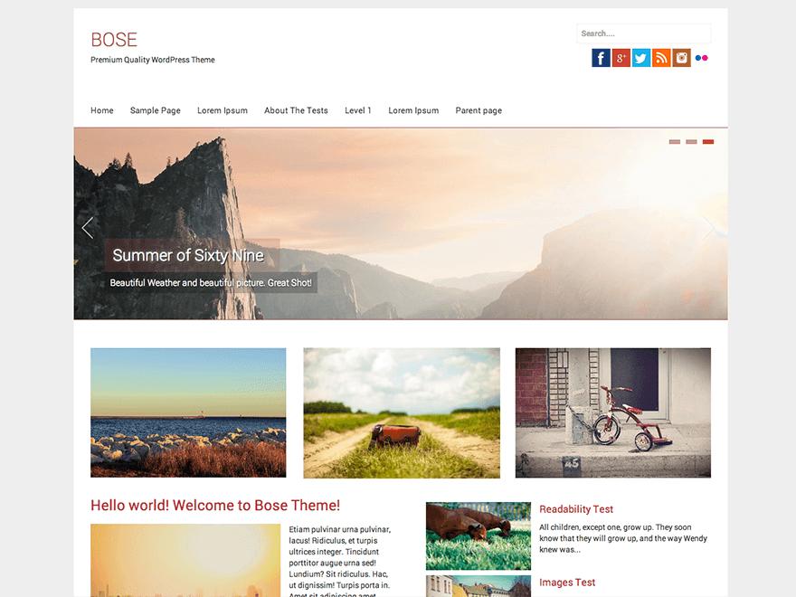 Bose wordpress theme