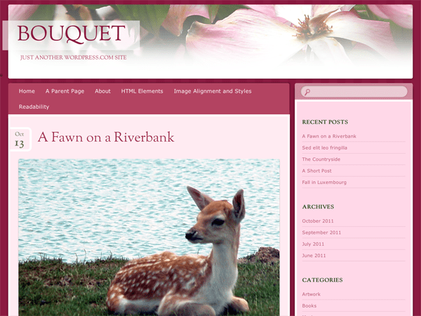 Bouquet free wordpress theme