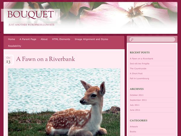 Bouquet free wordpress theme