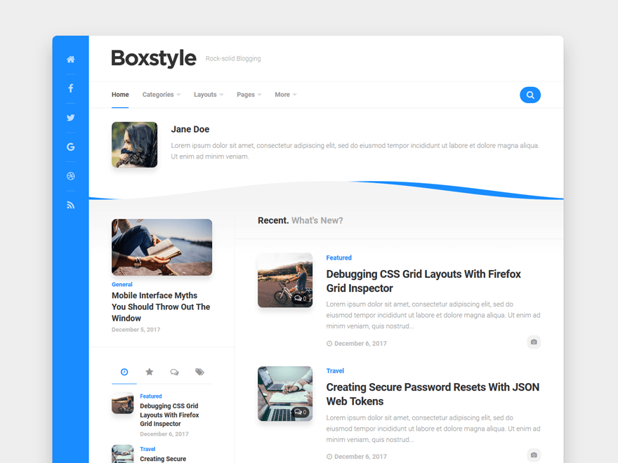 WordPress тема: Boxstyle