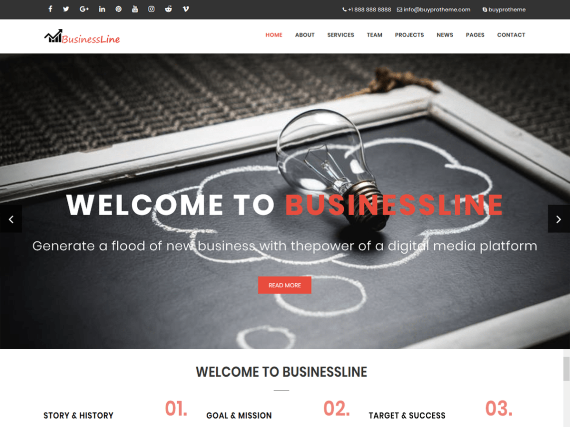 BPTBusinessLine Theme Free Download