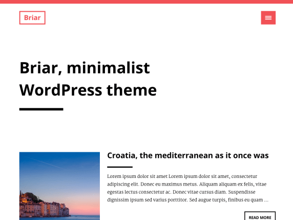 Briar wordpress theme
