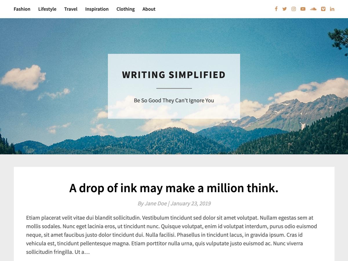 WordPress主题:Bright Writing