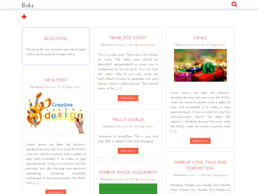 Briks free wordpress theme