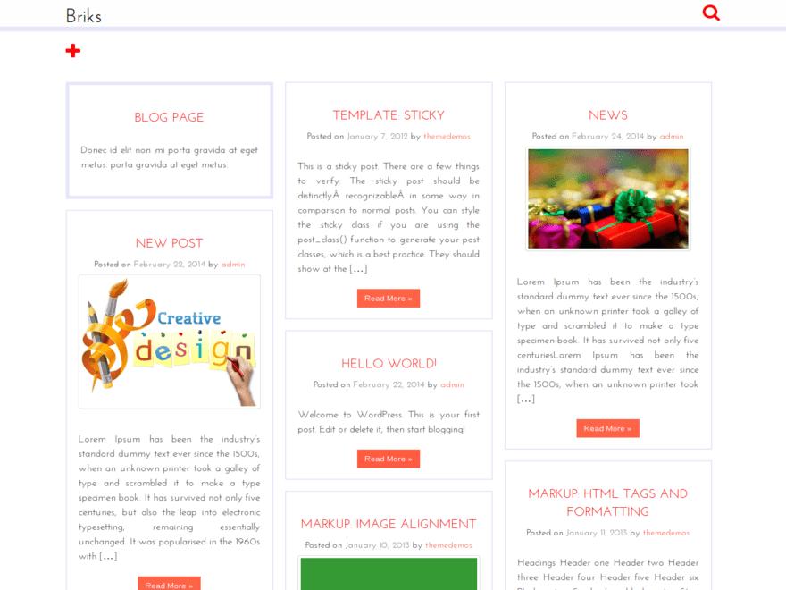 Briks theme wordpress gratuit