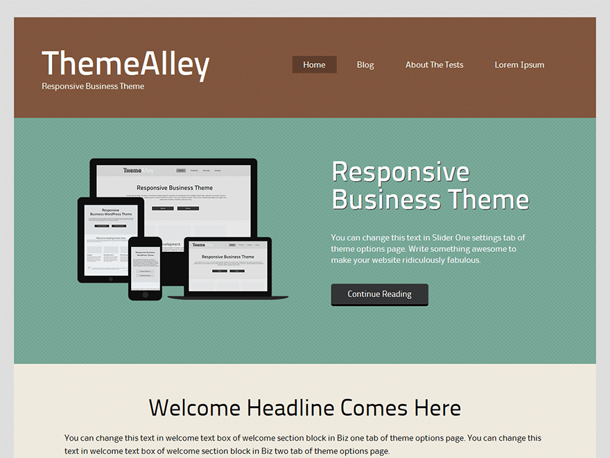 Bron free wordpress theme