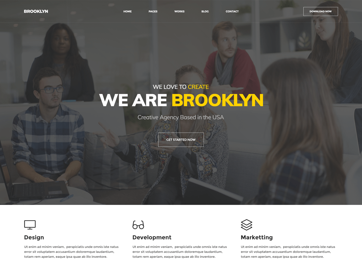 Brooklyn is a free to download Multipurpose WordPress Theme