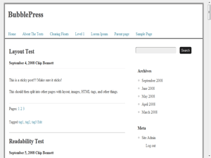 BubblePress free wordpress theme