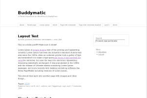 Buddymatic wordpress theme