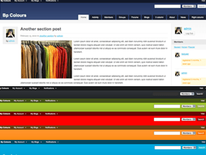 BuddyPress Colours free wordpress theme